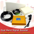 FULL SET LCD Booster High Gain Dual Band Mobile Phone 2G 4G Signal Booster GSM 900 mhz DCS 1800 mhz Signal Repeater Amplifier
