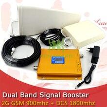 KOMPLET LCD Booster High Gain Dual Band Telefon komórkowy 2G 4G Wzmacniacz Sygnału GSM 900 mhz DCS 1800 mhz Repeater Sygnału wzmacniacz