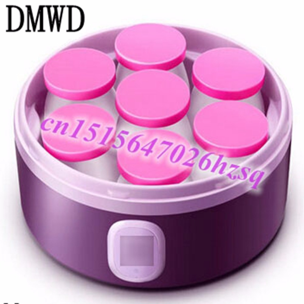 DMWD automatic yogurt maker seven cups one time large capacity yourt DIY cup Not easy to leak portable Fast constant temperature unbrand diy sushi maker