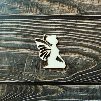 Laser Cut Wooden Wood Angel Wall Art Home Decor Wall Hanging