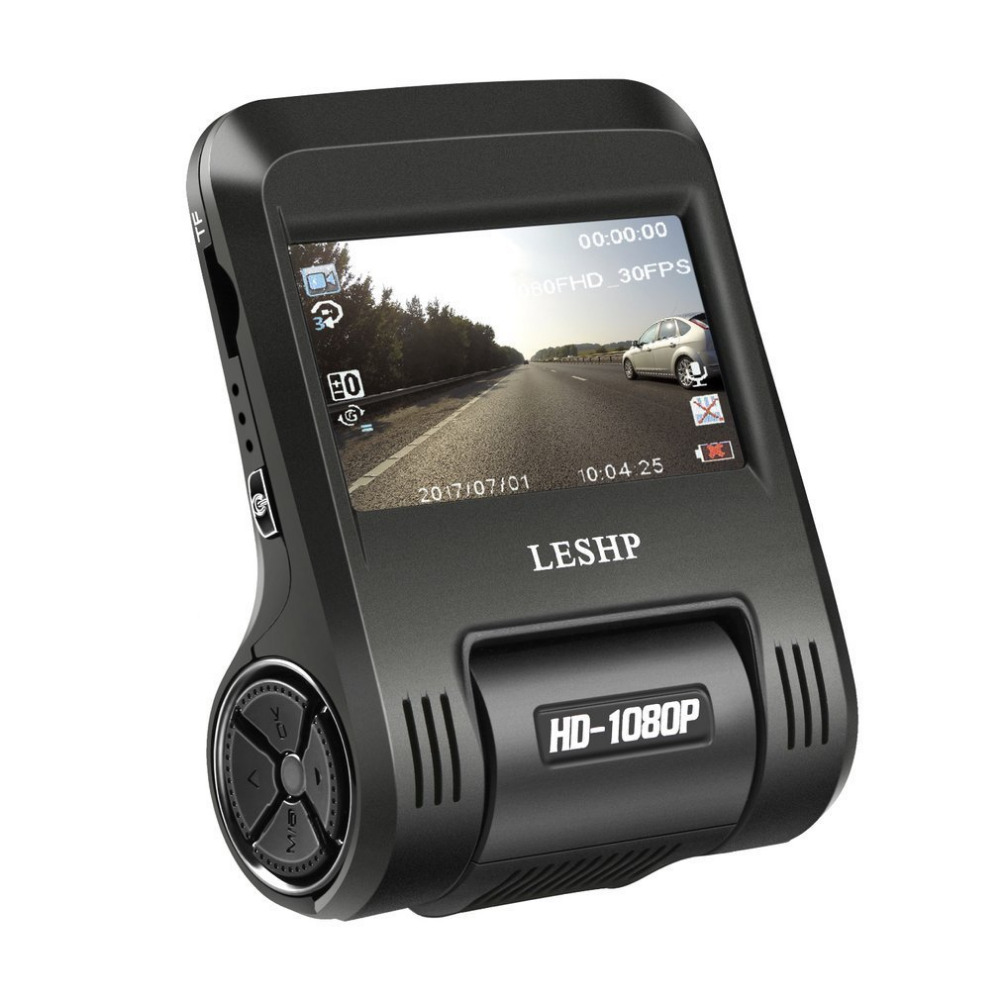 LESHP 2.4 Inch Car DVR HD 1080P Car Camera Driving Recorder Dash Cam Dashboard Camera 170 Degree Built-In WiFi 200MP LCD Lens