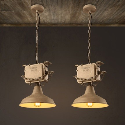 Antique Loft Style Industrial Droplight Creative Transformer Vintage Pendant Light Fixtures Dining Room Edison Hanging Lamp edison inustrial loft vintage amber glass basin pendant lights lamp for cafe bar hall bedroom club dining room droplight decor