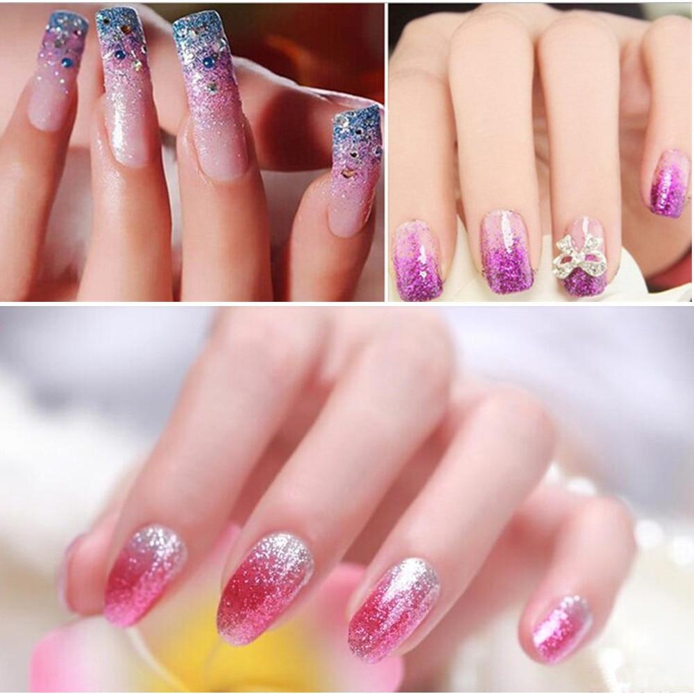 12 Colors Cosmetic Eyeshadow Glitter Powder 3D Spangles Nail Art ...