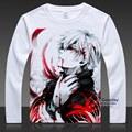 24 styles Anime Tokyo Ghoul Cosplay T-shirt Kaneki Ken Costumes Kirishima Touka Long Sleeve Tops Tee Plus Shirt S-3XL