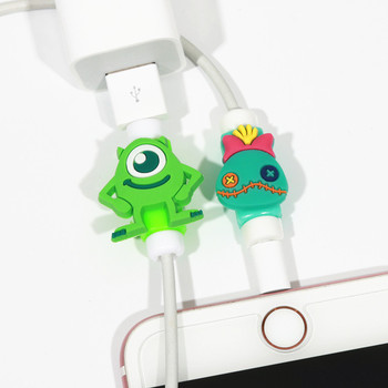 FFFAS Cartoon Cable Protector Arrange USB Cable Winder For Apple IPhone 4 5 5s 6 6s 7 8 X Plus Cable Protect Cute Decoration
