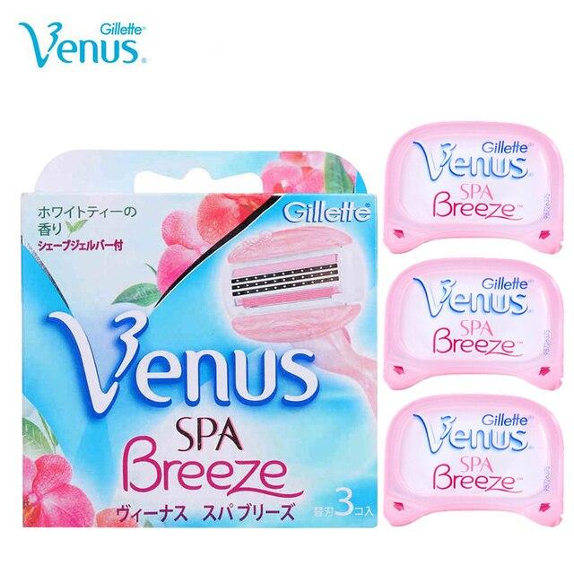 Genuine Venus Razor Blades Gillette Venus Breeze Shaving Razor Blades Ladies Series Vns  Breeze Hair removal For women