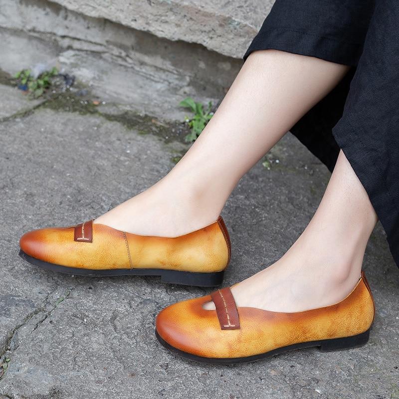 Cuero Casuales Mocasines Animal Nueva Azul Planos Dama naranja Llegada Zapatos Mujer Super Suave Correa Venta De Natural 6wSq5nRv