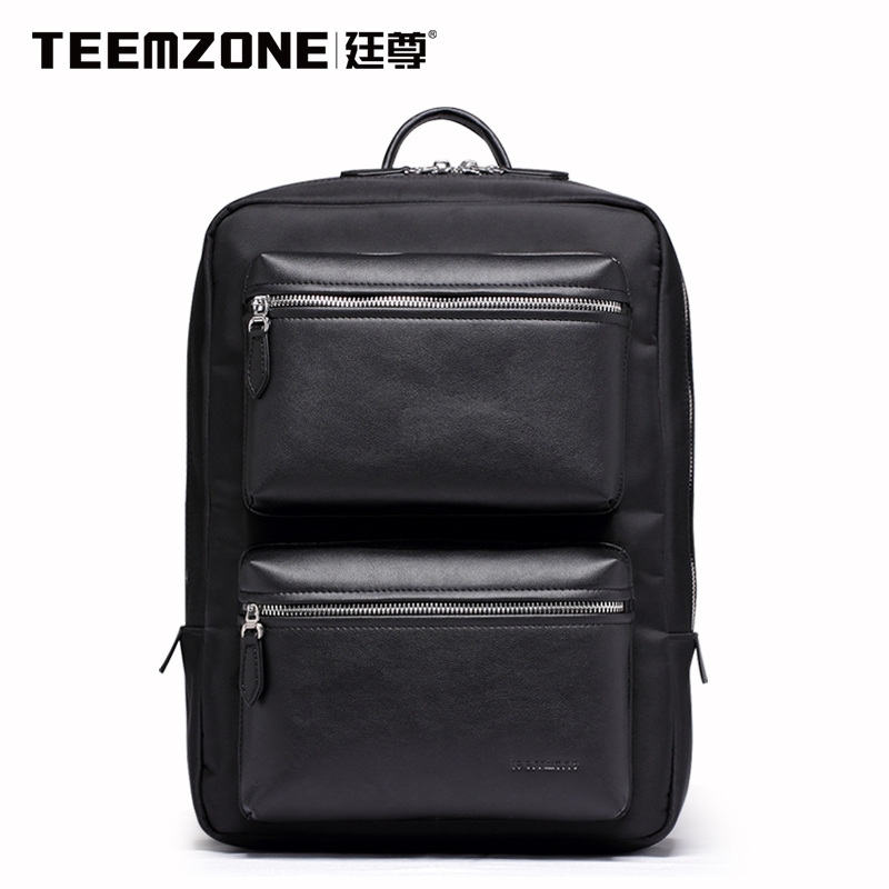 Teemzone Brand Men Canvas Waterproof Backpack Casual Travel Beach Bag Boys Laptop Backpack Teenagers School Bags Free Shipping