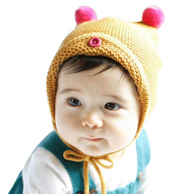 2017 Crochet Kids Winter Hats Baby Hat Newborn Photography Props  Accessories Unisex Baby Boys Hats Girls Caps Children Beanie 40772710c46