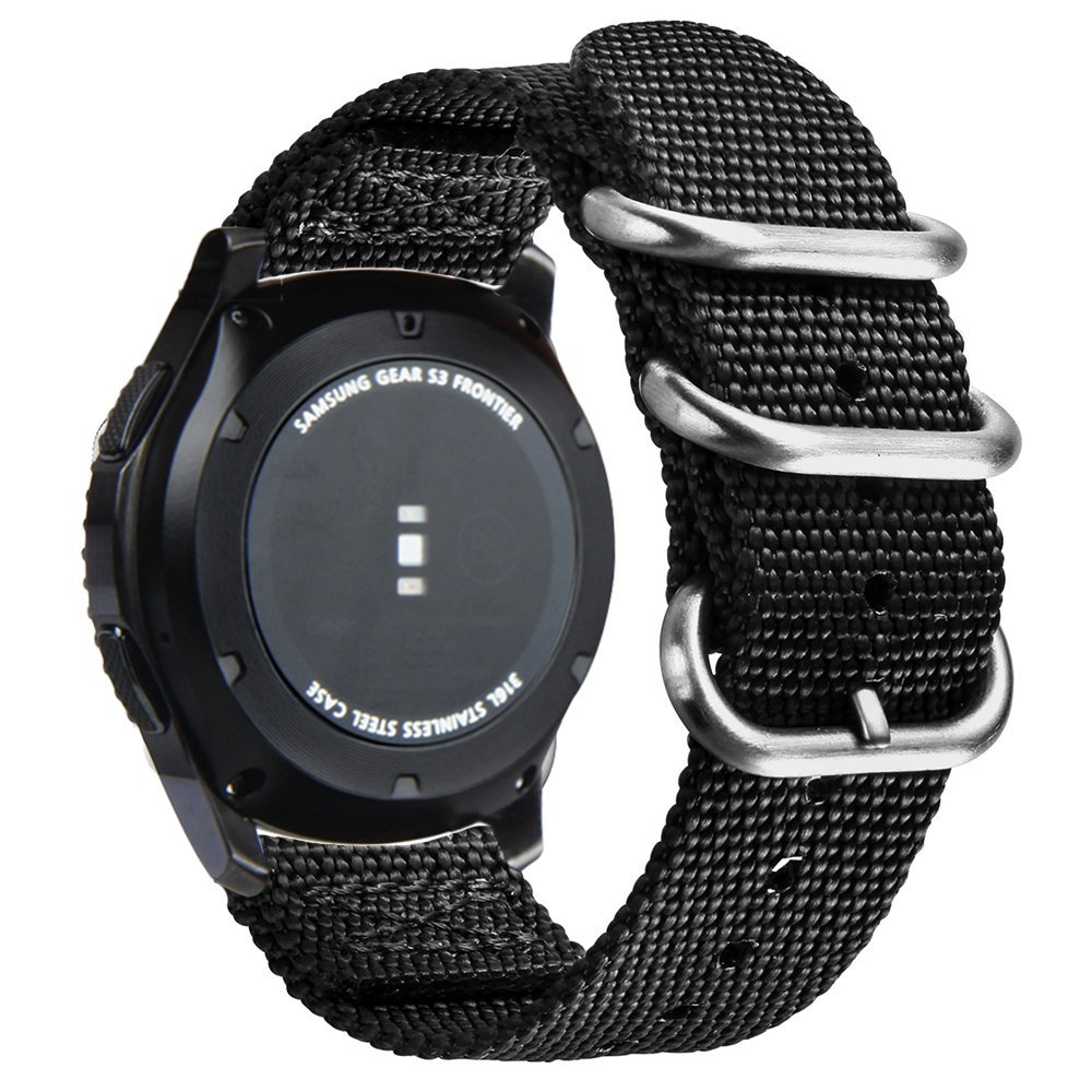 LEONIDAS 22m Woven Nylon Nate Strap For Samsung Gear S3 Band Replacement Watch Bracelet For Gear S3 Classic frontier survival nylon bracelet brown