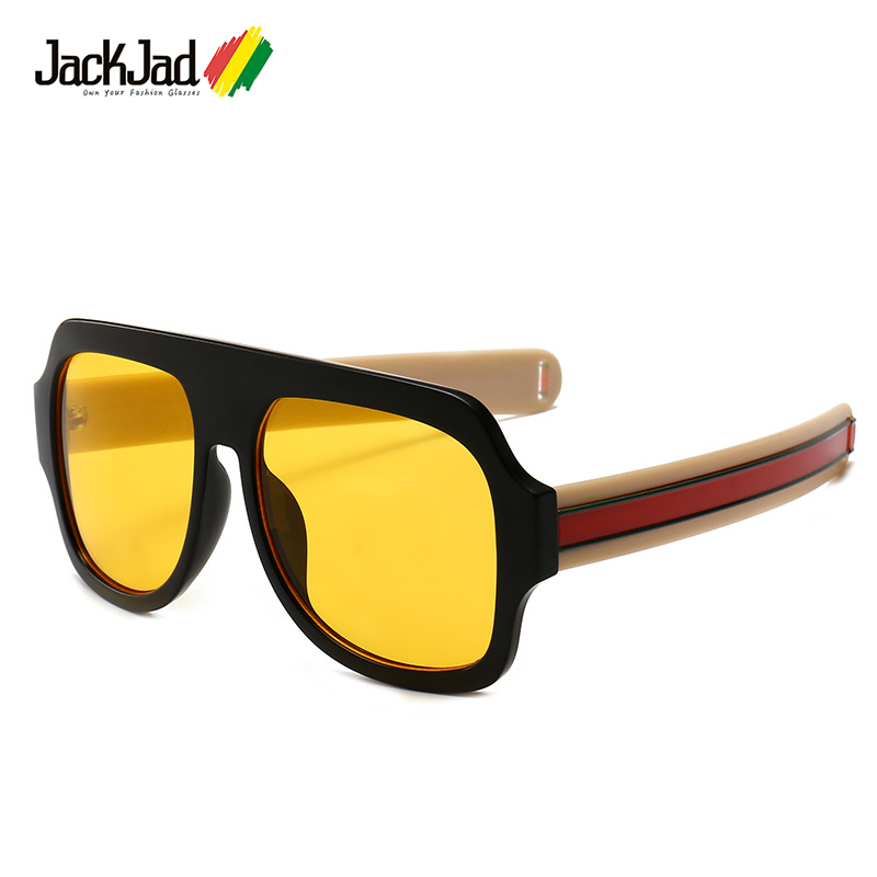3989440763 Detail Feedback Questions about JackJad 2018 Fashion Thick Stripes Temple  Men Square Shield Style Sunglasses Vintage Cool Brand Design Sun Glasses  Oculos De ...