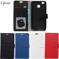 Uftemr Case For Xiaomi Redmi 4X Cases Magnetic Genuine Leather Flip Wallet Cover Case Mobile Phone