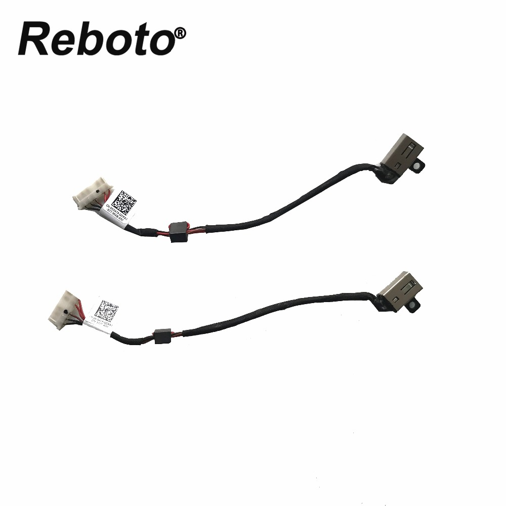 Laptop DC Power Jack socket Cable Wire connector For Dell