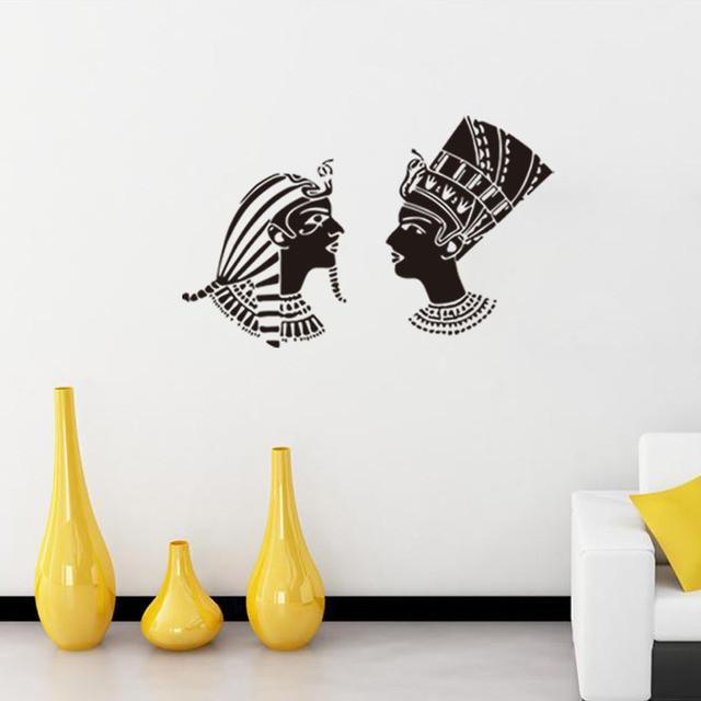 Egyptian Style Figures Portrait Wall Sticker Removable Wall Stickers