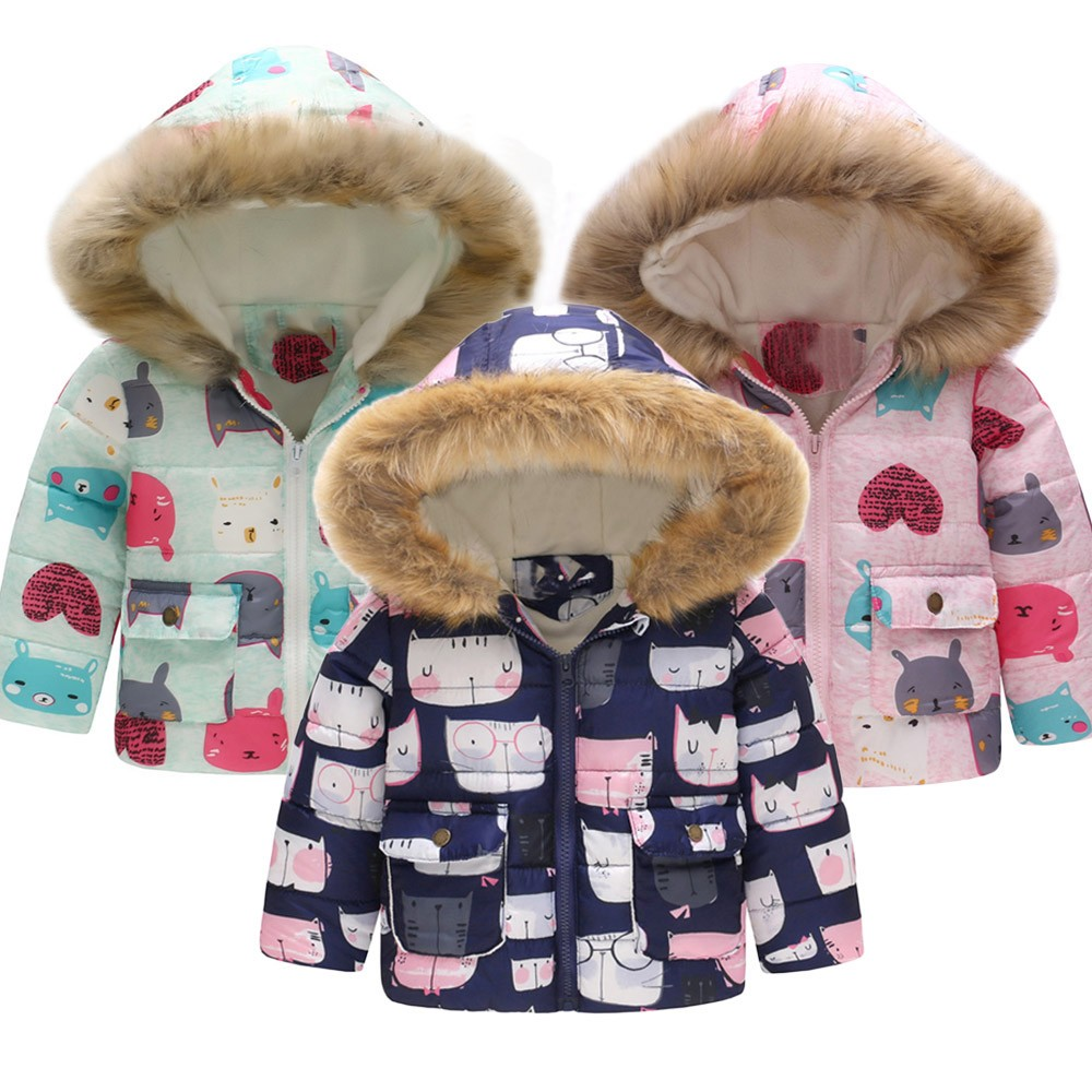 Sweet-Tempered Muqgew 2019 Hot Sale Toddler Baby Girl Boy Cartoon Cat Winter Warm Jacket Hooded Windproof Coat Dropshipping Baby Clothes Mother & Kids Boys' Clothing