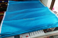 Chinese Traditional Silk Brocade Fabric Lake Blue Or Lake Green Boxes Maze HUI Pattern
