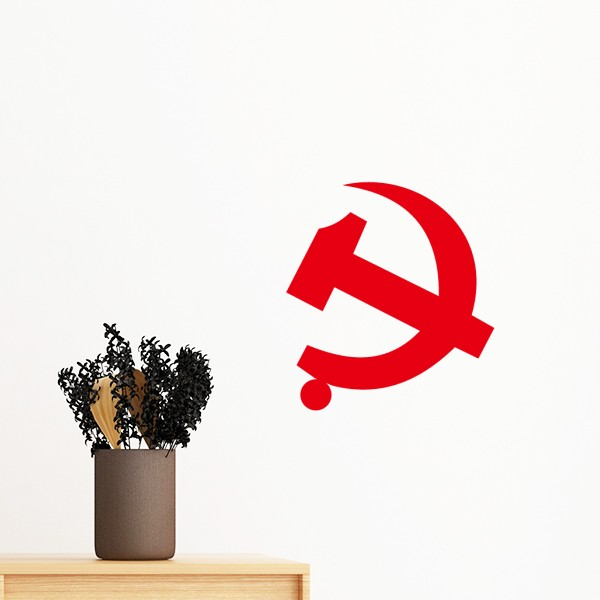 China Chinese Communist Badge Youth League National Emblem Removable WallSticker Mural DIY Wallpaper Vinyl Room Home Decal Decor