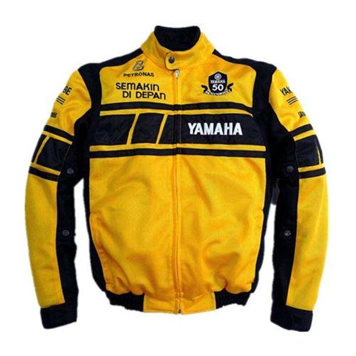 MOTOGP Racing Team white/yellow men's jacket for YAMAHA motorcycle detachable cotton lining cultural commemorative dress радиоуправляемая игрушка shenglong racing team red white 757879