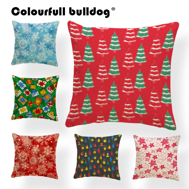 festival forest snowflake cushion merry christmas pillows graffiti party holiday gift pillow with cover snowman sock