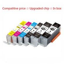 6 Pack Cartucho De Tinta Compatible PGI 570 CLI 571 Tintas Para canon pixma mg7750 mg7751 mg7752 mg7753 impresora de tinta con chips (2 negro, 1