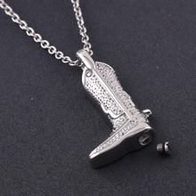 Cowboy Boot Urn Necklace
