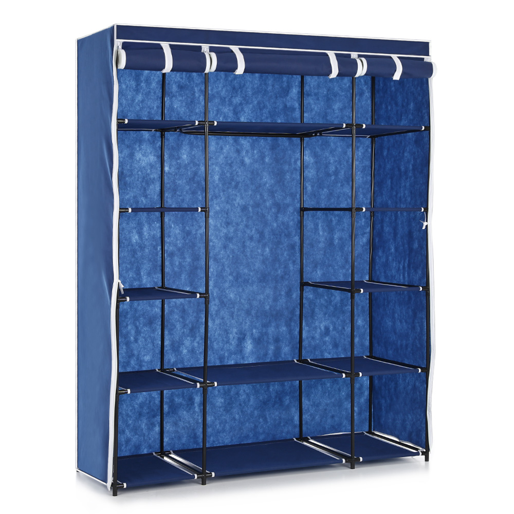 Ikayaa Us Uk Fr Stock Wardrobe Storage Closet Clothing Hanger Bedroom Furniture Cabinet Clothes Rack In Wardrobes From On