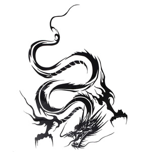 Image 3 - 1pcs Chinese Dragon Car Stickers and Decals For Car Head Hood Doors Graphic Wrap Auto Decal Racing Vinyl Car Styling