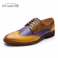 Yinzo/женские туфли-оксфорды на плоской подошве, женские кроссовки из натуральной кожи, женские броги, винтажная повседневная обувь для женщи...