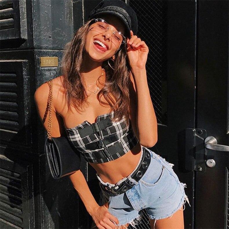 7c47510abb 2019 ZL BD Sexy Off Shoulder Black Bralette Crop Tops 2018 Summer ...