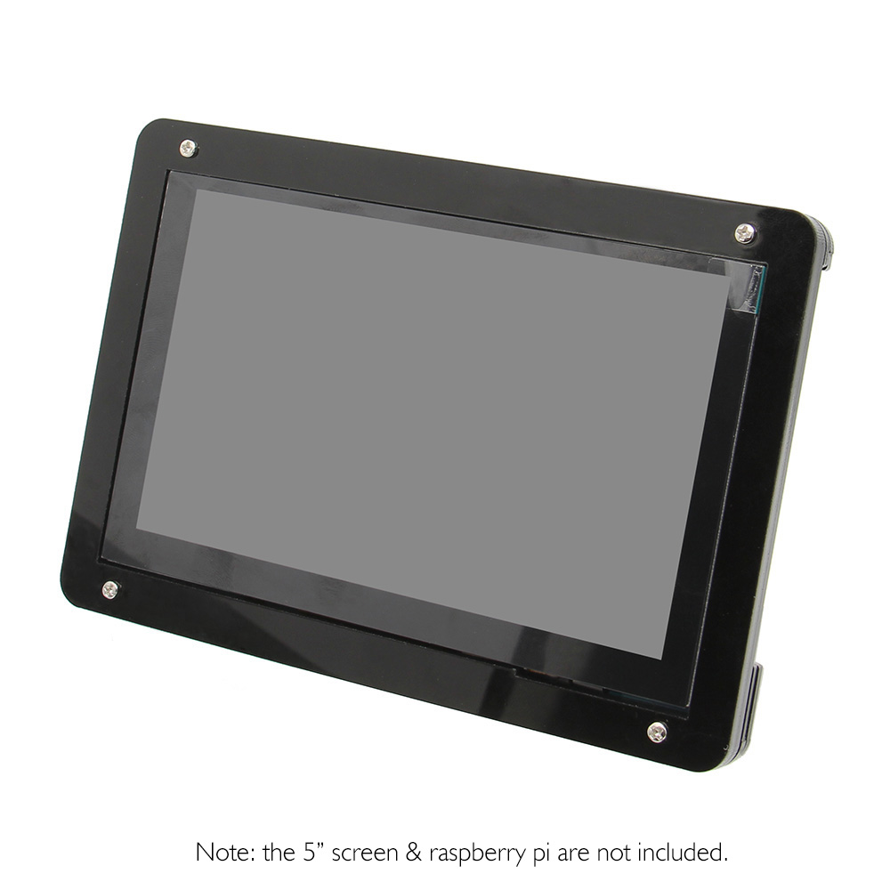 Raspberry Pi Acrylic Case / Stander / Holder For 5 Inch Touch Screen/ Display And Raspberry Pi 3 Model B+(plus)/3B