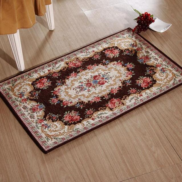 Teppich Küche Waschbar | Sunnyrain Haltbare Innen Flur Floral Klassische Teppiche Fur Hause