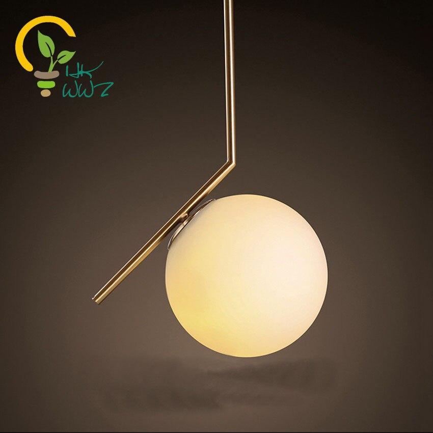 US $83.0 |Moderne Glaskugel Pendelleuchten Globus Lampenschirm  Pendelleuchte Schlafzimmer Hängelampe Fixture Lustre de Führte Droplight  leuchte-in ...
