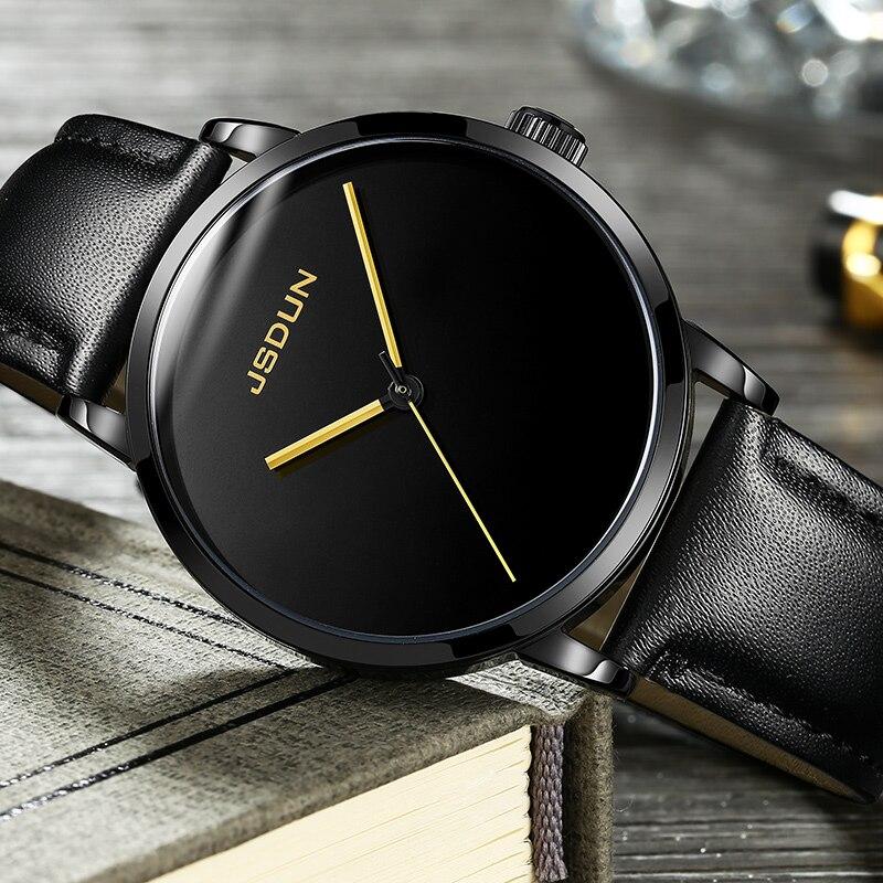 JSDUN หรูหรานาฬิกาผู้ชายนาฬิกาไขลานนาฬิกาหนังกันน้ำชายญี่ปุ่นนาฬิกาข้อมือ-ใน นาฬิกาข้อมือกลไก จาก นาฬิกาข้อมือ บน   3