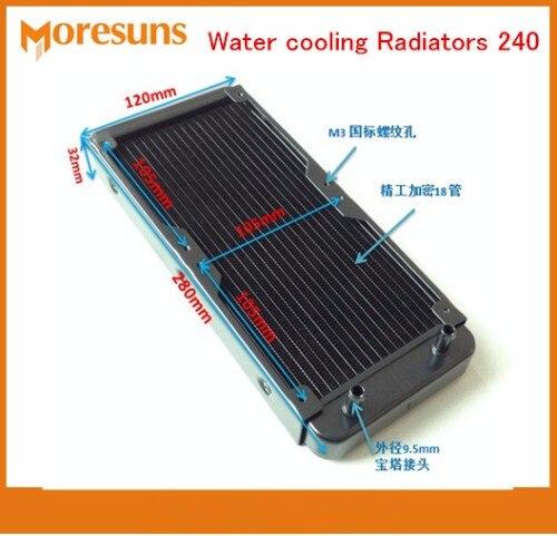 Radiateur de refroidissement à l'eau de navire rapide 240 pur aluminium refroidissement à l'eau 18 Tube ordinateur portable de bureau de Type froid échangeur de chaleur à Tube