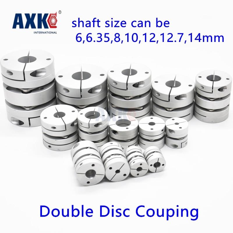 2017 Bearing Axk New Dia. 34mm 6, 6.35, 8, 10, 12, 12.7, 14mm Aluminum Alloys Double Diaphragm Disk Coupling Motor Disc Coupler new frame model aluminum alloys double