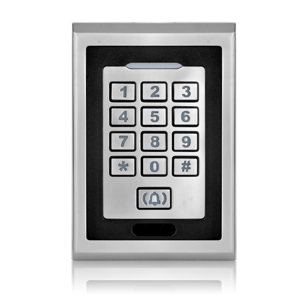 High quality silver metal RFID card keypad waterproof smart card reader for rfid door access control system digital lock