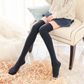 Girls Knee High Stockings College Style Over Knee Socks Winter Warm Thigh High Socks High Stretch Cotton Socks