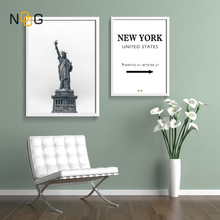 NOOG Nordic Landscape poster Wall Art New York The Statue Of Liberty Canvas Poster And Painting For USA Home Decorative