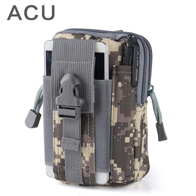 Outdoor Camping Climbing Bag Tactical Military Molle Hip Waist Belt  Wallet Pouch Purse Phone Case for iPhone 7 for Samsung  4