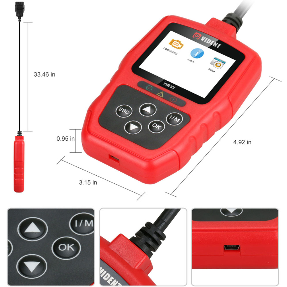 US $36 0 |OBD2 Scanner Automotive Diagnostic Scan Tool iEasy300 Code Reader  Check Engine Light MIL Read Clear Trouble Codes OBD II EOBD-in Code