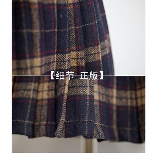 HTB1TDklNFXXXXXyXVXXq6xXFXXXC - FREE SHIPPING Pleated skirt plaid bodice short skirt JKP093