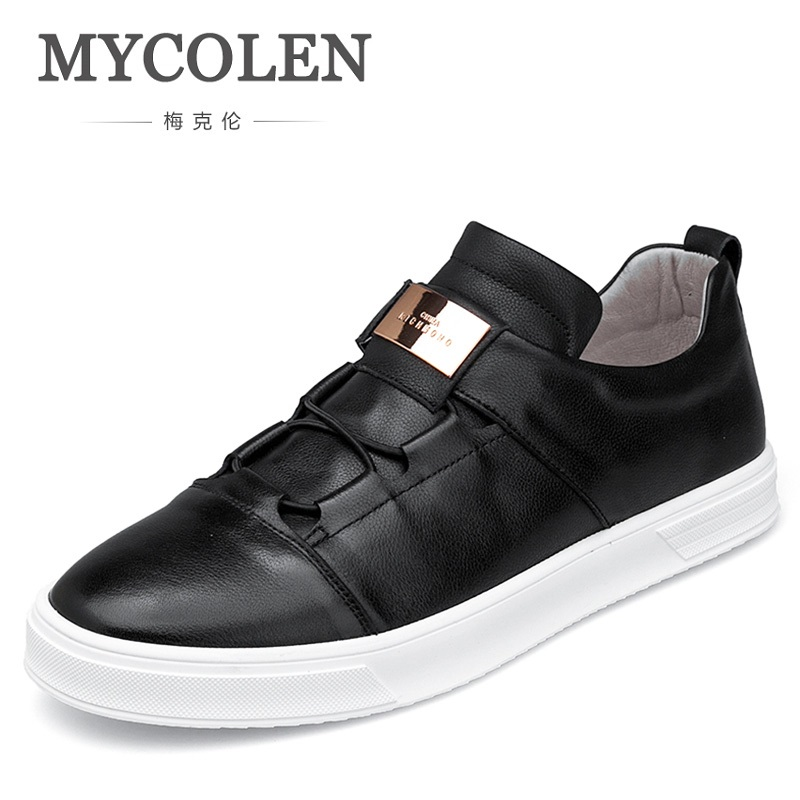 MYCOLEN Italian Brand Formal Dress Men Shoes Genuine Leather Business Classic Office Wedding Mens Casual Shoes Tenis Masculinos blaibilton 100% genuine leather men shoes oxford elegant formal dress business classic office wedding mens casual italian sd7113