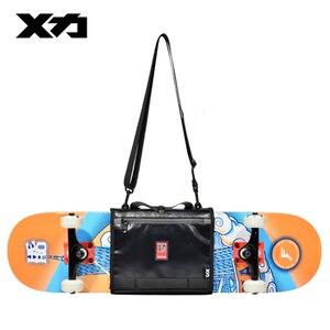 Image 3 - MACKAR Pro 25x21cm Skateboard Carrying Straps Bags 22x16cm Small Cruiser Board Packs Men Rubber Coating Material Handbags
