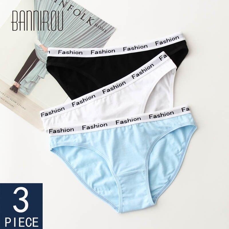 3 Pcs Underwear For Women Cotton Hot Sale Low Waist Breathable Female Panties Brand Quality Briefs Woman Panties Cotton BANNIROU 1