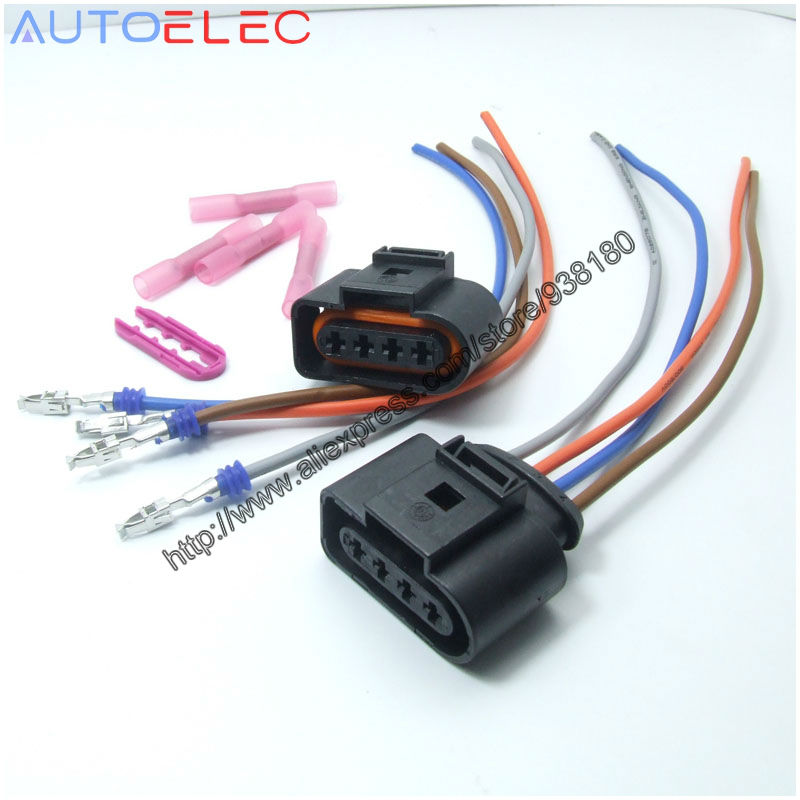 2Pcs font b Ignition b font font b Coil b font connector 4Pin 1J0973724 with 8Pcs cheap ignition coil replacement & parts for sale online audi a4 1.8t ignition coil wiring harness at nearapp.co