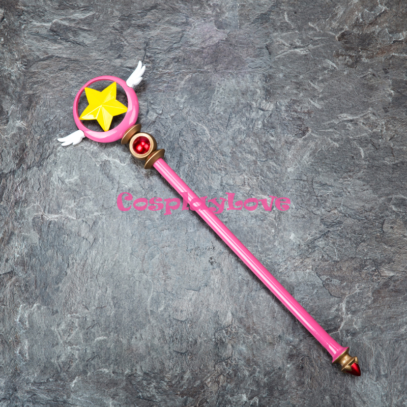Hearty Free Shipping Card Captor Sakura Kinomoto Sakura Cosplay Props Star Birds Magic Wand Weapon In Stock Novelty & Special Use