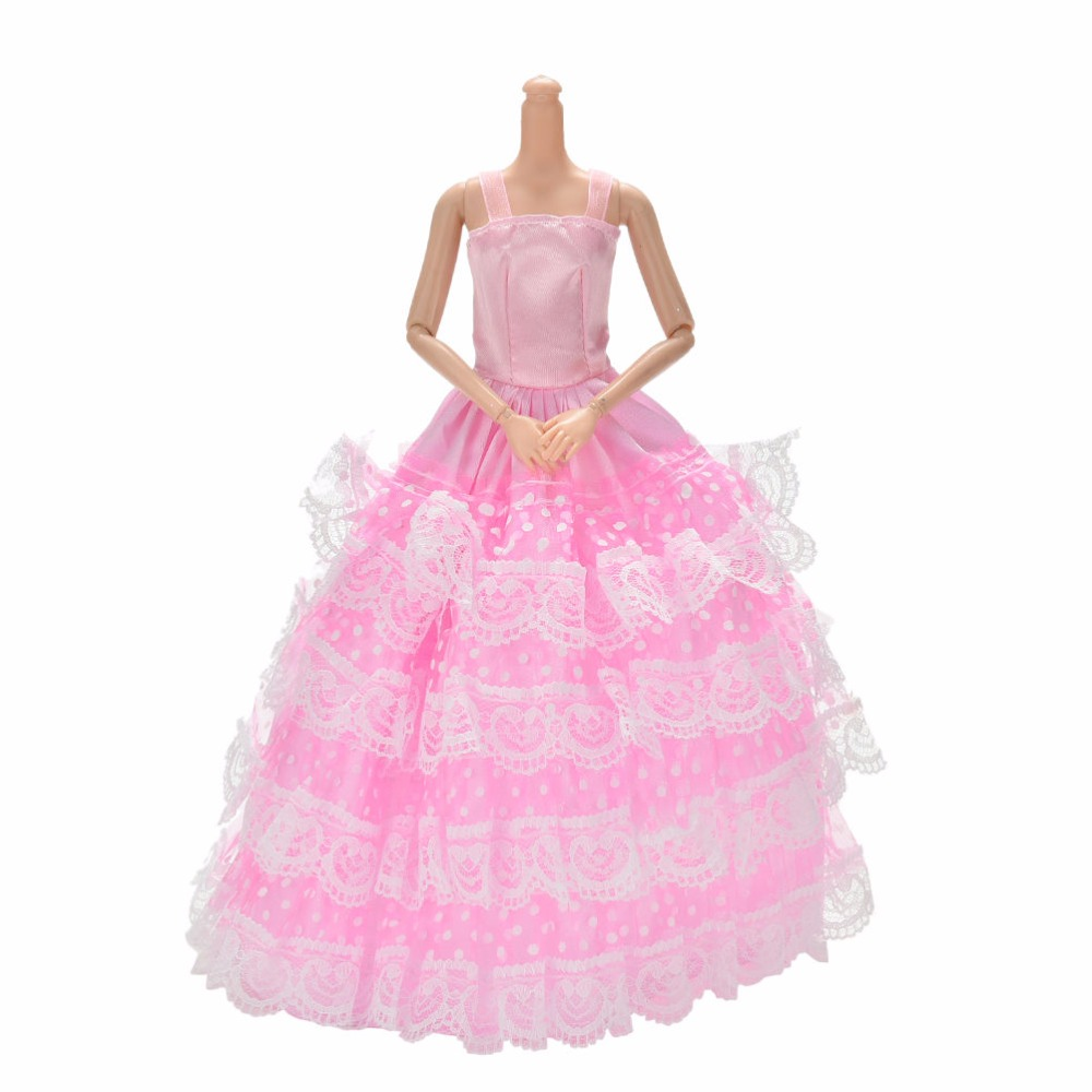 10PCS Handmade Party Clothes Fashion Dress for  Doll Mixed Charm RS