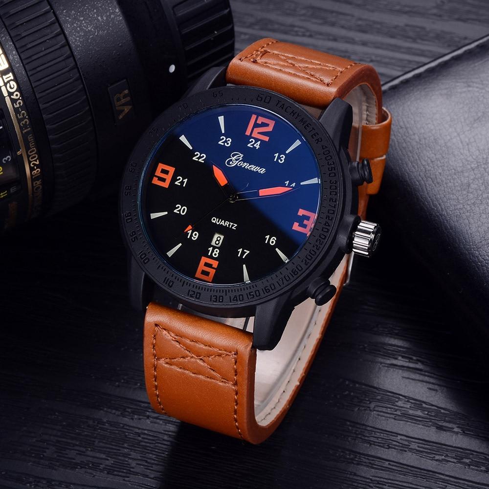 все цены на GONEWA 2017 Fashion Business Wrist Watch Men Top Brand Luxury Famous Male Clock Quartz Watch for Men Hodinky Relogio Masculino онлайн