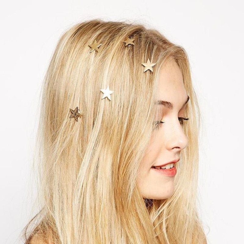 T17 The New European Style Womens Hair Accessories Fashion Starfish Shape Gold-color Tiara Beautiful Bridesmaids Hair Jewelry