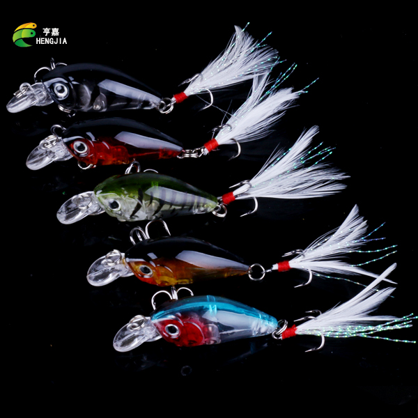 200PCS 4 5cm 4g Fishing Lures Crank Baits Mini Crankbait 3D Eyes Artificial Lure Bait with